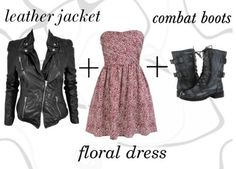 Vintage Outfit, I like the dress, and I really want combat boots ...