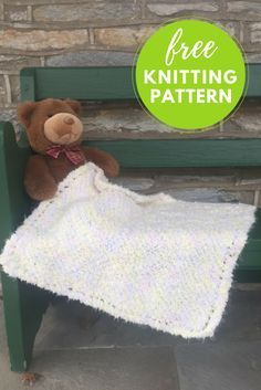 Fast and Easy Baby Blanket Free Knitting Pattern