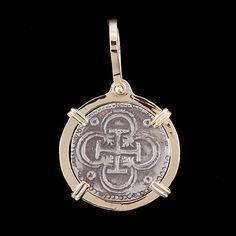 Atocha Jewelry - Bogota Silver Coin Pendant from Virtual Treasure Chest