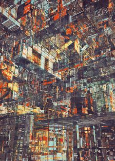 Illustrations of Futuristic Mega-Cities by Atelier Olschinsky Badass Drawings, Art Drawings, Concept Art Tutorial, Architecture Concept Drawings, Cityscape Art, Fantasy Places, Generative Art, Environment Concept Art, Fantasy Landscape