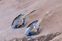 Blue crystal silver plated earrings made by CreativeWorkStudios Blue Crystals, Silver Plate, Plating, Swarovski, Earrings, Jewelry, Ear Rings, Stud Earrings, Jewlery