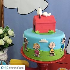 #Repost @entrenafesta with @repostapp. ・・・ É ou não é para morrer de amores por esse bolo By @poppartysc??? Babando por tanta fofura! #saojosesc #saojose #festacatarinense #snoopyparty #decoracaoinfantil Snoopy Birthday, Leo Birthday, Dinosaur Birthday Party, Birthday Parties, Birthday Cakes, Birthday Ideas, Bolo Snoopy, Snoopy Cake, Peanut Cake