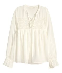 Blouse with lace | Product Detail | H&M