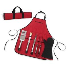 #gifts for him Chef's BBQ Apron & Tools for Him.   http://stampingwithbibiana.blogspot.com/