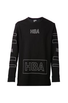 {Hood By Air / 01 clothing / 04 knitwear / 01 t-shirt} Outline Logo Long Sleeve T-Shirt