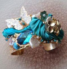 CUFF (whit Shibori silk ribbon) Serena Di Mercione Design by cheryl