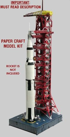 Launch Umbilical Tower LUT Model Craft Kit for Monogram/Airfix &any 144 Saturn V | Collectibles, Historical Memorabilia, Astronauts & Space Travel | eBay!