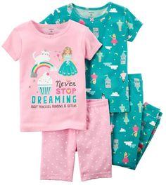Carter's Baby Girls Never Stop Dreaming Pajama Set Toddler Pajamas, Baby Girl Pajamas, Carters Baby Girl, Little Girl Outfits, Toddler Outfits, Boy Outfits, Cotton Pjs, Boys Underwear, Pajama Set