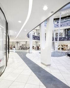 View the full picture gallery of Shopping Center Milaneo Plaza Design, Mall Design, House Design, Column Design, Floor Design, Ceiling Design, Dark Interiors, Shop Interiors, Shopping Center