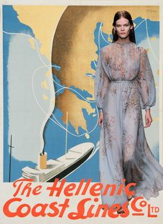 Couture Travel Posters : Miss Moss Valentino