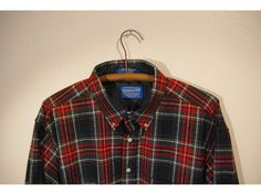 PENDLETON Men's Large 100% Virgin Wool Button Up by THESALTYFAWN