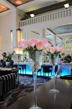 Pink flowers from The Lobby Lounge of Four Seasons Hotel Bangkok