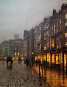 """John Atkinson Grimshaw """"Liverpool from Wapping"""" - my all time fav painting Atkinson Grimshaw, 19th Century London, London Painting, Painting Art, Et Tattoo, Victorian London, Art Plastique, Beautiful Paintings, Oeuvre D'art"""