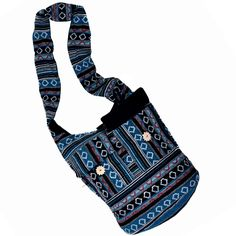 Hand Bags @ Range of Rs.548/- only online shop here  Order Here: http://www.artncraftemporio.com/jewellery-and-accessories/accessories-1/bags.html This Exclusive bag in Black and Blue color is all time favorite of fashion concious females. This cute bag is embellished with unique designer pattern all over the bag