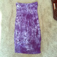 Purple tie dye tube dress or tunic size small Can be worn as a mini dress or tunic! Worn only a few times, like new condition.    **all my clothes have been lightly worn and VERY well taken care of** Dresses Mini