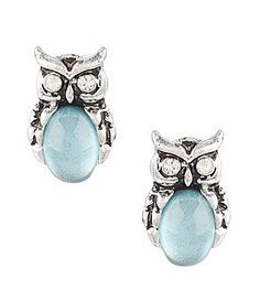 Lonna and Lilly Owl Button Stud Earrings #Dillards