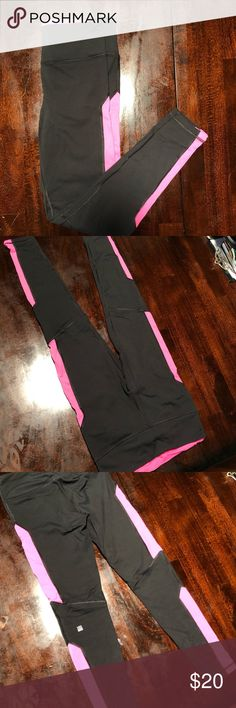 Cooperative Victoria's Secret Sport Knockout Black Gray Cutout Leggings Size Medium Euc Clothing, Shoes & Accessories