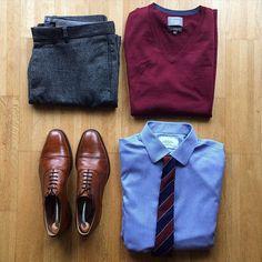 #churchs shoes #mango trousers #charlestyrwhitt shirt and tie