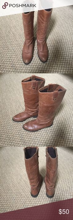 OTBT brown leather boots OTBT brown leather boots OTBT Shoes Heeled Boots