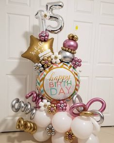 15 Balloon Bouquet for a beautiful young lady💐🎈💐 . Balloon Shop, Balloon Gift, Balloon Garland, Balloon Arrangements, Balloon Centerpieces, Shower Centerpieces, Birthday Balloon Decorations, Birthday Balloons, Halloween Window Clings