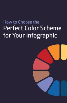 Design ideas and tips on how to choose the right colors for your infographics
