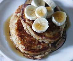 Cinnamon Oatmeal Pancakes- I substituted apple sauce for yogurt and they were delicious!