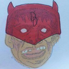 That time Frankie watched over Hell's Kitchen. #frankie #frankieoftheday #daredevil #grimcartoons #mattmurdock #devil #marvel #sketch #illustration