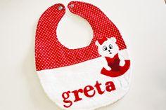 #Bavaglino personalizzato con #orsetta #cucito a mano :)