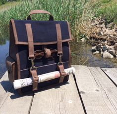Survey Evolution Backpack, Denim 25 Oz. outdoors!!  #sunny #newspaper #paper #dry #lake #survey #evolution #backpack #premium #newzealand #natural #tanned #oil #evolution #leather #design #pitti #pu88 #florence #italy @kjoreproject
