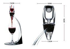 Floureon Set Herramientas para Vino (Aireador de Vino, Sacacorchos Eléctrico, Soporte de Corte, Tapón de Vino, Bomba de Vacío, Juego de Accesorios) para Vino con Estuche Cuero PU: Amazon.es: Hogar