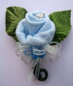 image of baby shower corsage ideas