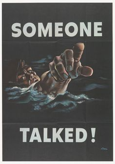Poster, Someone Talked!, 1942