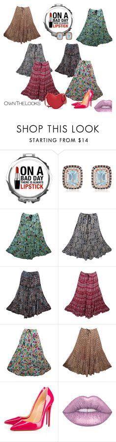 Hippie Flirty Tiered Maxi Skirts by tarini-tarini on Polyvore featuring Christian Louboutin and Effy Jewelry