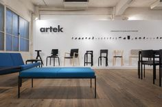 Artek - News & Events - Artek launches jubilee of classic stool in Tokyo Exhibition Display, Display Design, Signage, Tokyo, Stool, Product Launch, Events, News, Classic