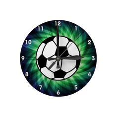 Soccer Ball Round Wallclock