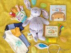 Click here for a great list of easter basket must haves for your 0 easter basket ideas for baby savvy sweet life first easter basket ideas for negle Image collections