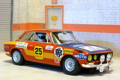 Fly Car Model A0801. Alfa Romeo Giulia GTV. Rally Costa Brava 1976. Claudio Caba-Joan Aymami. #slotcar