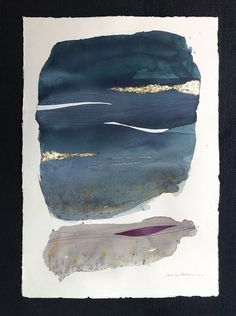 Abstract Art Original Watercolor / Modern Art by MadlenDesign