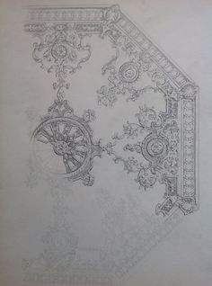 Sketch. Design of a ceiling