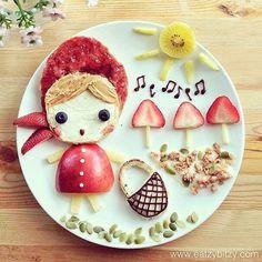 Creative Food Art by Samantha Lee 08 Bento Recipes, Baby Food Recipes, Food Design, Food Art Lunch, Bento Food, Food Food, Cute Food, Yummy Food, Healthy Food