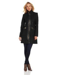 Via Spiga Women's Zip Front Mixed Media Coat with Tassel Pull Detail, Black, 12 Via Spiga,http://www.amazon.com/dp/B00D87CIPW/ref=cm_sw_r_pi_dp_2uYusb153B02KA4E