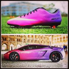 Nike love Lamborghini as much as we do so they decide to make matching footwear! :) First person to name the lambo is awesome!