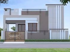 Related image Beautiful Small Homes, Beautiful House Plans, Narrow House Plans, Indian House Plans, Independent House, Innovative Architecture, House Front Design, Indian Homes, House Elevation