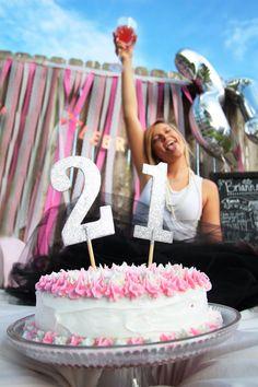 21st birthday photos - adult cake smash