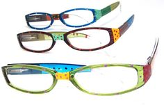 18c54b30eeee7 Flair with a girly essense. These hand painted readers are cute and cheap.  Womens