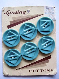 Vintage Lansing  Button Card by vintageladies on Etsy, $4.25
