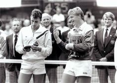 Ivan Lendl and Boris Beker - Wimbledon 1986. I loved Boris. Love to listen to his commentary now when I catch it on BBC
