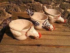 Hand Built Pottery, Slab Pottery, Pottery Bowls, Ceramic Pottery, Pottery Animals, Ceramic Animals, Ceramic Birds, Ceramic Chicken, Chicken Art