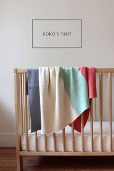 koko's nest | Modern Heirloom - baby blankets for all seasons, knit in 100% Egyptian Cotton