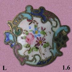 Antique enamel button.